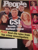october 2002 People Magazine CSI Inside TV's Hottest Show great cover - $1.99
