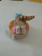 Vintage 1980 Schmid Beatrix Potter Miss Moppet Cat and Mouse Music Box  - $34.99