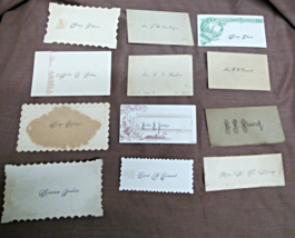 1900's Calling Card Lot of 12 - $25.00