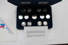 1992 Canada 12-Coin Proof Sterling Silver Quarter Set Box & COA .925 AG - $98.99
