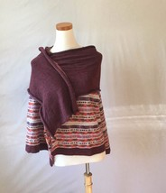 New Anthropologie Moth Unique Multicolor Long Cardigan Sweater S 4-6 - $49.45