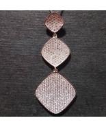 New 14k White Gold On 925 Diamond Shape Charm Pendant - $67.55