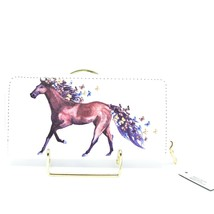 Bijorca Country Western Horse w Butterflies Vinyl Clutch Wallet New with Tags image 2