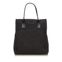 Pre-Loved Gucci Black Canvas Fabric Guccissima Tote Bag Italy - $288.92
