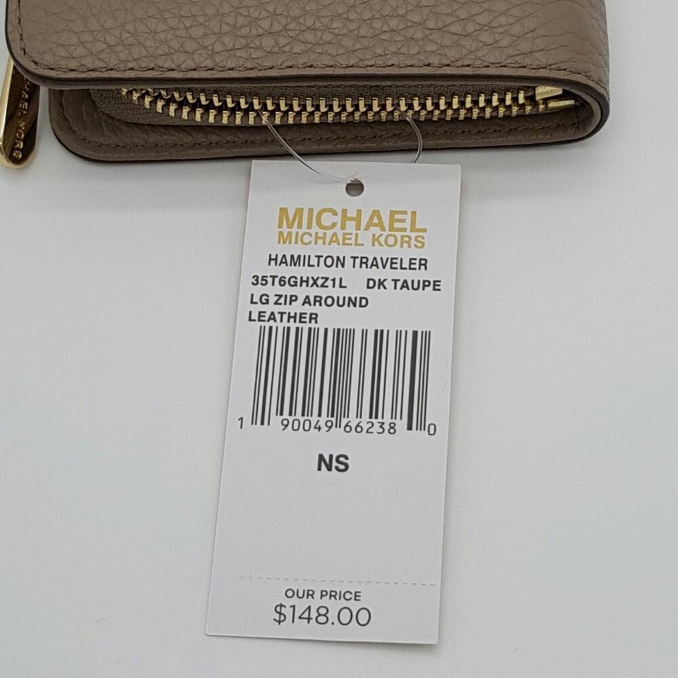 2c77cd2dbb0ae Michael Kors Hamilton Traveler Large Zip Around Leather Wallet NWT