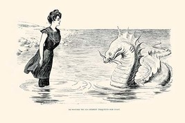 No Wonder The Sea Serpent Frequents our Coast by Charles Dana Gibson - Art Print - $19.99+