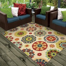 """5x8 (5'2"""" x 7'6"""") Contemporary Floral Transitional Indoor Outdoor Area Rug - $99.00"""