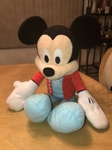 """Just Play Large Disney Mickey Plush 23"""" In Blue Snowflake Outfit 2017 EUC - $24.70"""