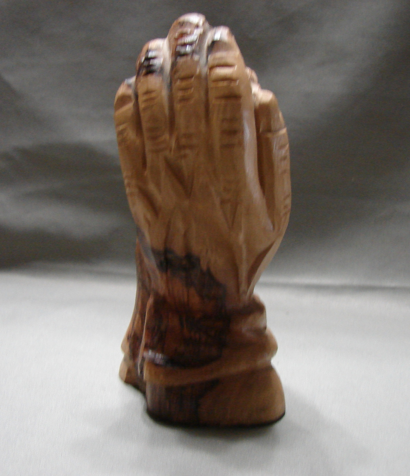 "Holy Land Olive Wood Child in the Hand of God 4.7 "" Hand Crafted Holy Land"