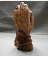 "Holy Land Olive Wood Child in the Hand of God 4.7 "" Hand Crafted Holy Land - $20.00"