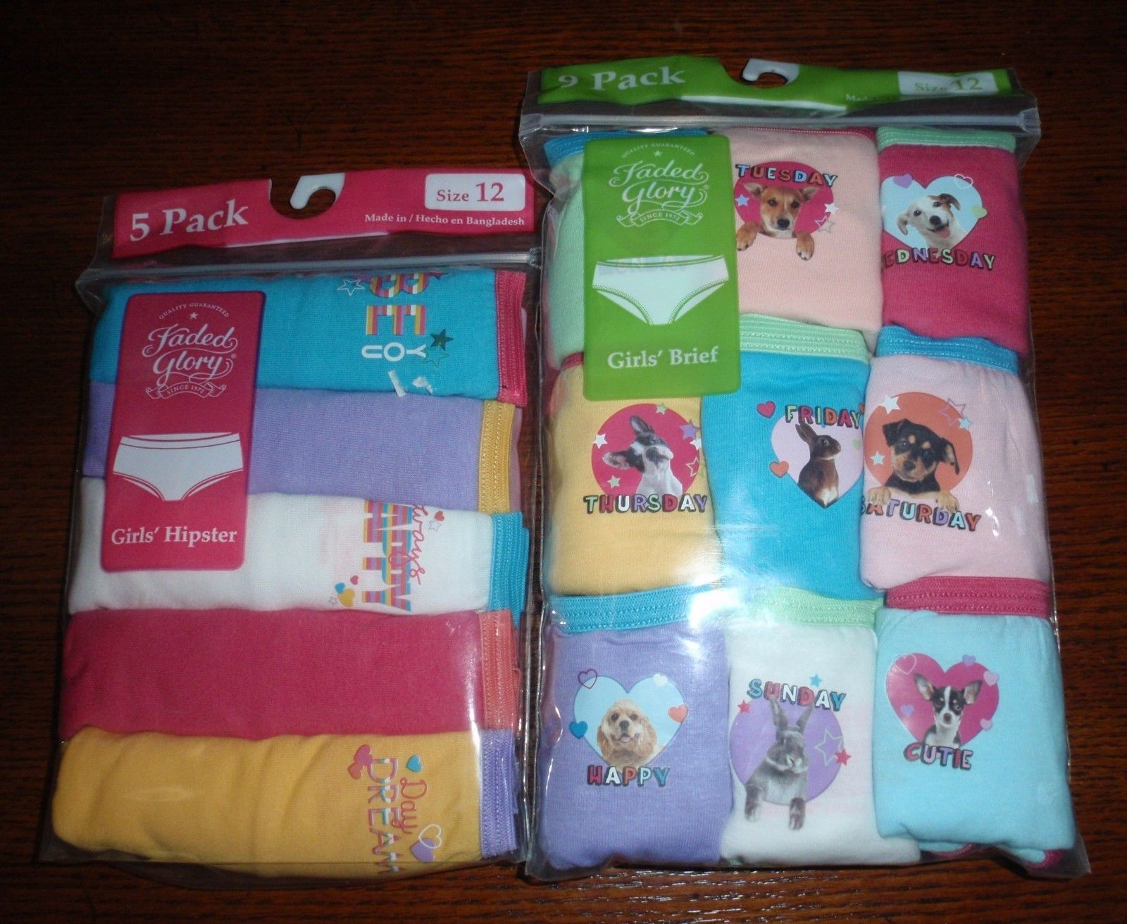 10ff40984e58 Lot of 14 FADED GLORY Girls Brief Week Days and similar items. S l1600