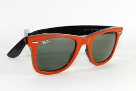 Ray Ban 2140 955 Wayfarer Classic Red Sunglasses G-15 Lens New Authentic - $89.05