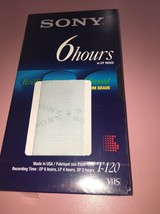 Sony T-120 6 Hours EP Mode VHS T-120VE 246m Sealed in Original Packaging - $16.30 CAD