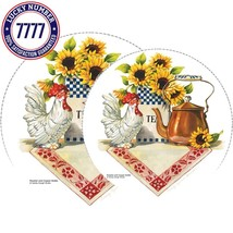 Reston Lloyd Electric Stove Burner Covers, Set Of 4, Rooster  Copper Ket... - $15.88
