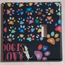 Dog is Love Foot Print Light Switch Outlet Duplex Wall Cover Plate Home Decor image 3