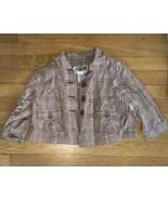 * Route 66 brown pink plaid woven 4 button blazer jacket medium 7 - 8 gi... - $6.93