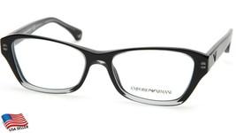 New Emporio Armani Ea 3032 5220 Trans Black Eyeglasses Frame 52-16-140 B34mm - $53.96