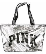 Victorias Secret Bling Fashion Show Tote Bag, Silver/Gold Flip Sequins - $29.65