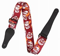 Practical Guitar Equipment Guitar Strap Shoulder Strap [Cartoon Skull] - $15.48