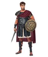 Men's Roman Gladiator Soldier Adult Costume Set Body Armor Cape - $43.99