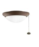Kichler KK380902WCP Outdoor Ceiling Fan Light Kit in Tannery Bronze - $59.35