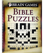 Brain Games Bible Puzzles Brand NEW Spiral Bound Book 96 Pages 8.4 x 0.2... - $10.96