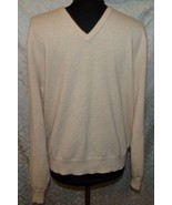 Polo Ralph Lauren Mens Cashmere V-neck Sweater XL Beige Pullover - $68.00