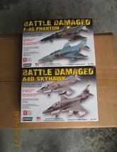 Lindberg Battle Damaged F4G Phantom & Battle Damaged A-4 Skyhawk both 1/... - $29.99