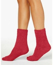 Charter Club Women's SuperSoft Fuzzy Cozy Butter Socks, Red - $7.92