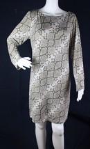 Vince Camuto women's tunic shift dress animal print zipper back size 14 - $26.88