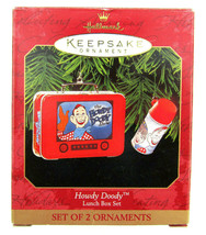 1999 Hallmark Howdy Doody Lunch Box Set of 2 Keepsake Classic Christmas ... - $11.95
