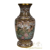 An item in the Antiques category: Antique Chinese Cloisonne Vase 18LP01