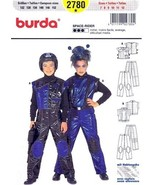 Burda 2780 New Costume Child 7 to 14 Space Rider Pattern - $9.95
