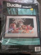 "1994 Bucilla Needlepoint Kit #4685 Indian Pots & Peppers 16"" x 10"" Nancy Rossi - $23.51"