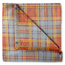NWT PENNEY'S HARVEST PLAID Blanket Throw Print Oversized 50x70 Velvet Pl... - $22.17