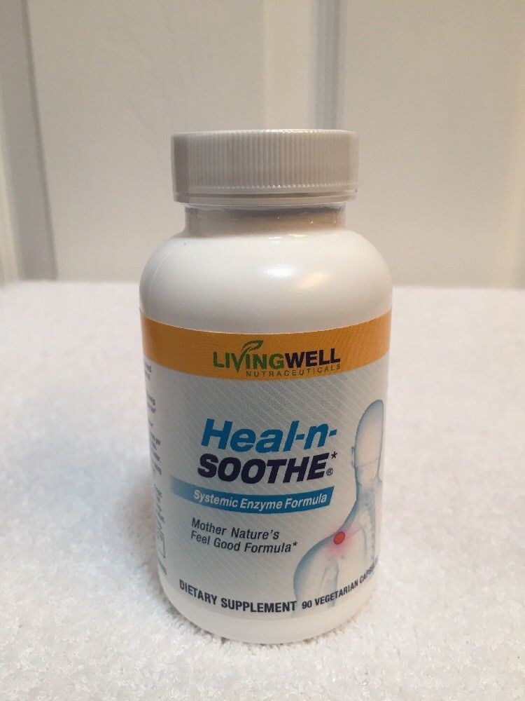 Heal N Soothe Systemic Enzymes Livingwell 90 Caps Each 2