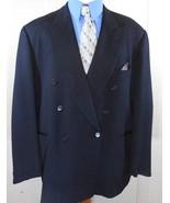 LORO PIANA  DOESKIN BLACK WOOL Mens 48R/48 R DBL-BREAST Blazer/Suit Jack... - $78.38