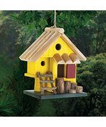 Birdhouses Garden Decor Yellow Tree Fort - $18.51