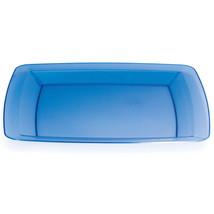Translucent Blue 10.25 inch Plastic Square Plate/Case of 48 - $58.59