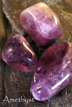AMETHYST-Birthstone PISCES-Lucky Talisman VIRGO Plus an A to Z book on S... - £3.91 GBP
