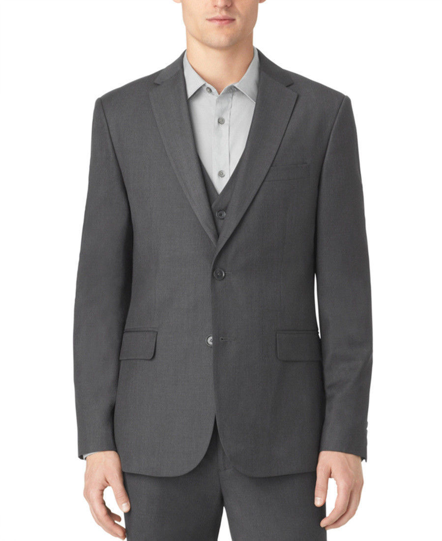 Primary image for Calvin Klein Men's Granite Heather Jacket , Size S , Short, MSRP $120