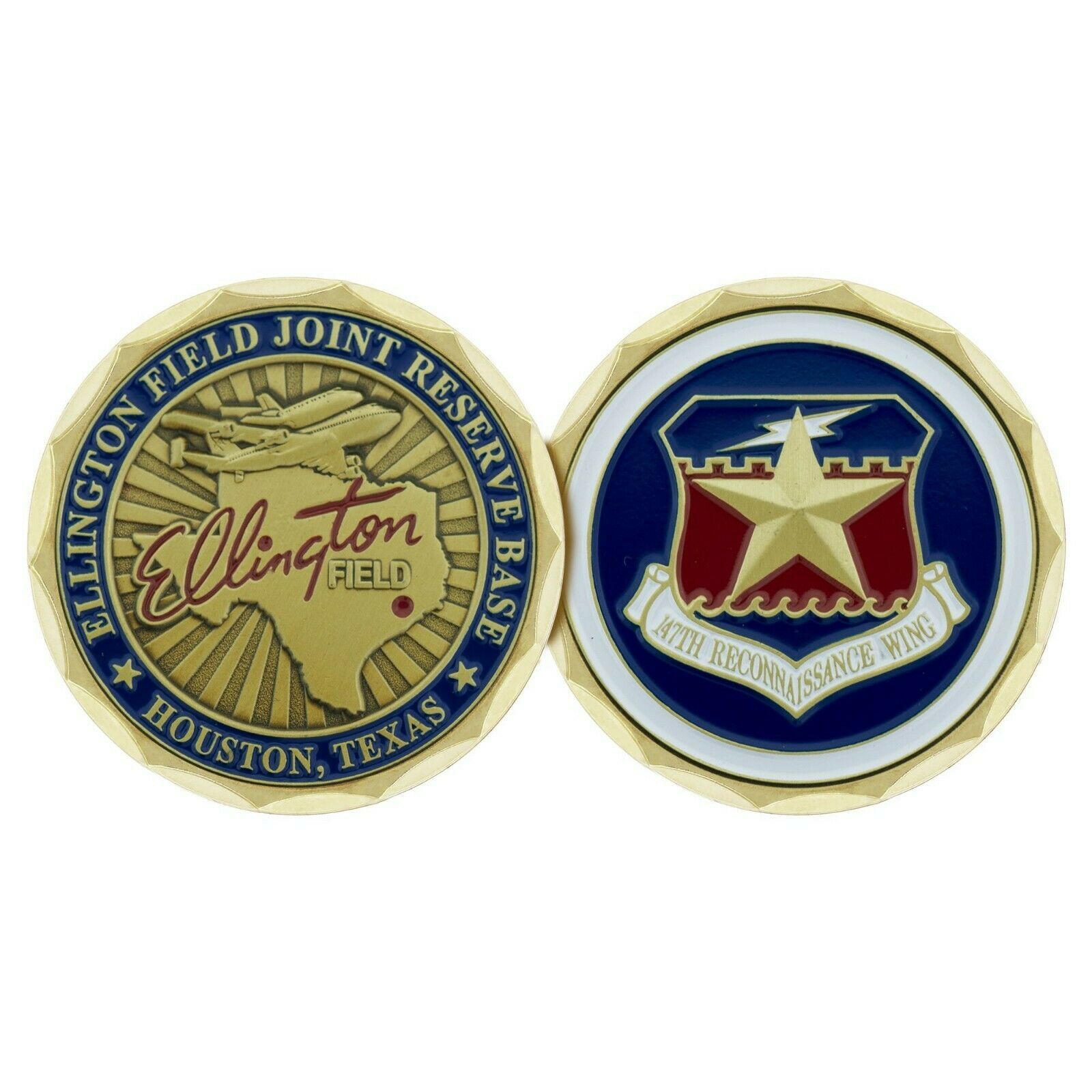 "ELLINGTON FIELD TEXAS JOINT RESERVE BASE AIR FORCE 1.75"" CHALLENGE COIN"