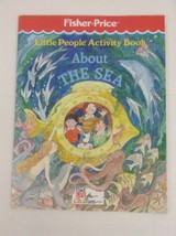 Fisher Price Little People Activity Book About the Sea Coloring Vintage 1989 - $9.85