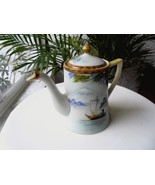Nippon Lidded Hand Painted Tea Pot Homeland Scene 1900-1940 - $29.70