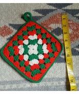 Antique Christmas Winter Holiday Kitchen Pot Holder • Handmade • Pre-own... - $5.15