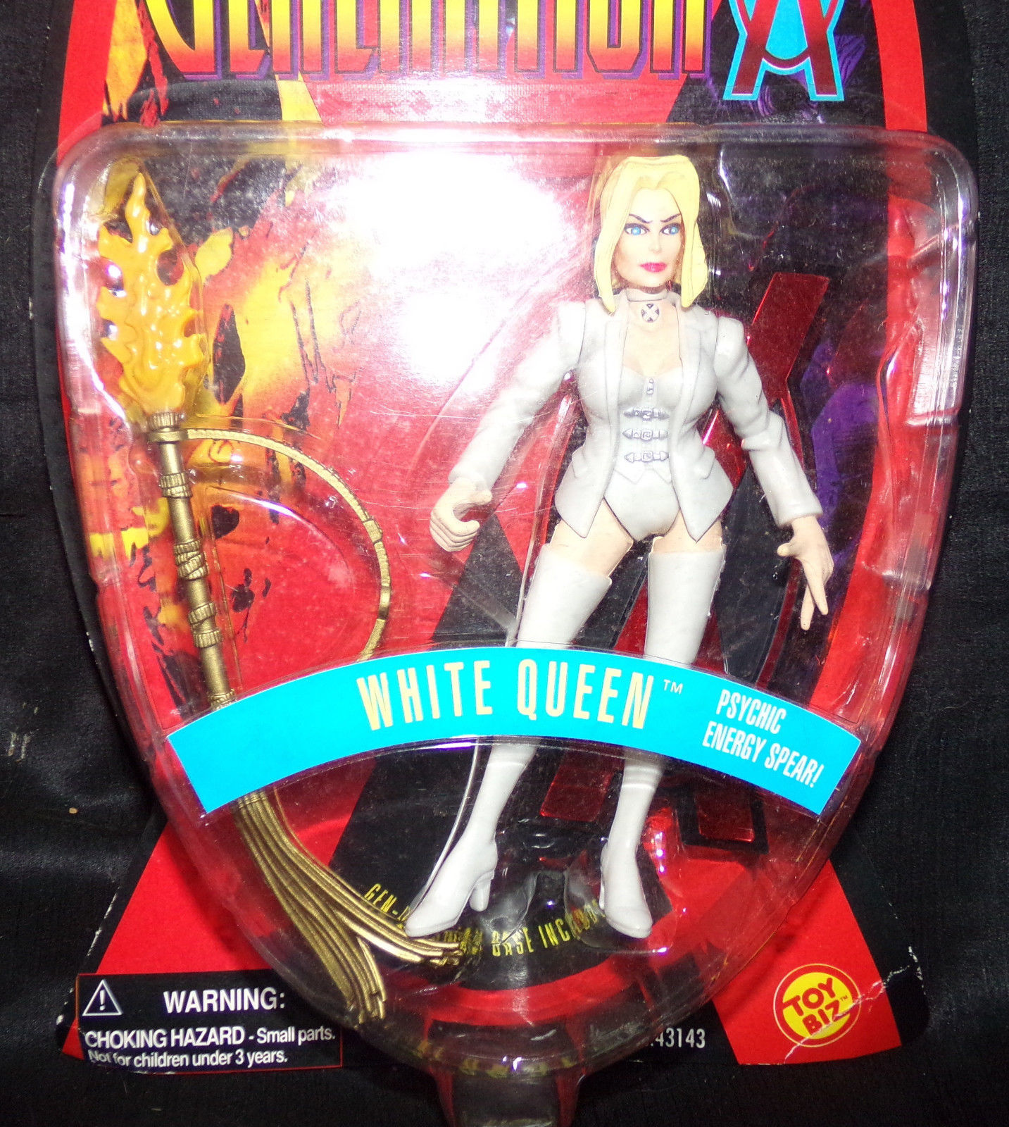 New WHITE QUEEN X-MEN Generation X Action Figure NIP on Card 1996 Vtg Toy Biz