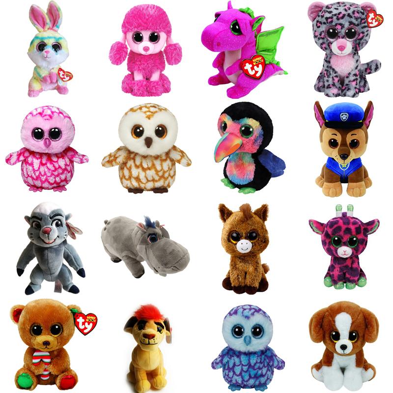 b577bfdb1e4 Thter ty beanie boos plush dolls 6 15cm lollipop rabbit poodle dog darla  dragon leopard pinky