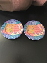 Set of 2 Potpourri Mix and Match by Sango Salad Plates Candy Mountain - $13.99