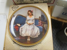 "VINTAGE 1983 NORMAN ROCKWELL ""WAITING AT THE DANCE"" COLLECTIBLE PLATE  - $24.75"