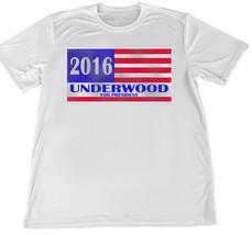 2016 Frank Underwood for President Wicking T-Shirt w American Flag Car C... - $14.80+